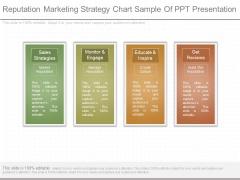 Reputation Marketing Strategy Chart Sample Of Ppt Presentation