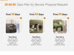 Request Corporate Work 30 60 90 Days Plan For Service Proposal Request Ppt Slides Themes PDF