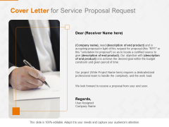 Request Corporate Work Cover Letter For Service Proposal Request Ppt Show Topics PDF