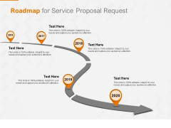 Request Corporate Work Roadmap For Service Proposal Request Ppt Inspiration Infographic Template PDF