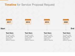 Request Corporate Work Timeline For Service Proposal Request Ppt Infographics Master Slide PDF