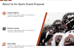 Request For Sporting About Us For Sports Event Proposal Clients Ppt Professional Model PDF