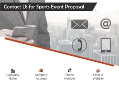 Request For Sporting Contact Us For Sports Event Proposal Ppt Inspiration Introduction PDF