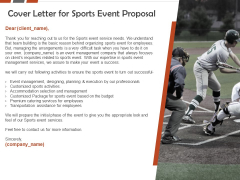 Request For Sporting Cover Letter For Sports Event Proposal Ppt Icon Format PDF