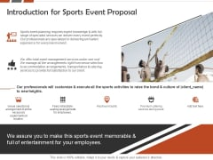 Request For Sporting Introduction For Sports Event Proposal Ppt Layouts Background Images PDF