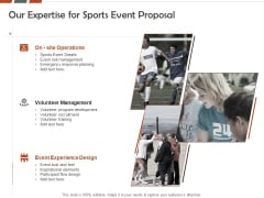 Request For Sporting Our Expertise For Sports Event Proposal Ppt Layouts Smartart PDF