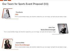 Request For Sporting Our Team For Sports Event Proposal Manager Ppt Ideas Picture PDF