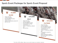 Request For Sporting Sports Event Packages For Sports Event Proposal Ppt Gallery Files PDF