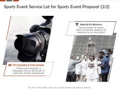 Request For Sporting Sports Event Service List For Sports Event Proposal Ppt File Good PDF