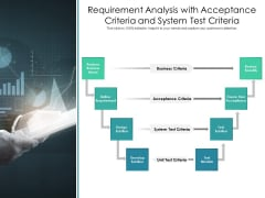 Requirement Analysis With Acceptance Criteria And System Test Criteria Ppt PowerPoint Presentation File Graphics Download PDF