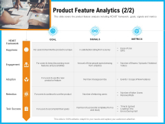 Requirement Gathering Techniques Product Feature Analytics Goal Ppt Summary Examples PDF