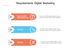 Requirements Digital Marketing Ppt PowerPoint Presentation Slides Outfit Cpb