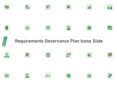Requirements Governance Plan Icons Slide Inspiration PDF