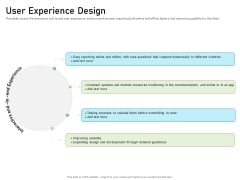 Requirements Governance Plan User Experience Design Brochure PDF