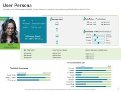 Requirements Governance Plan User Persona Portrait PDF