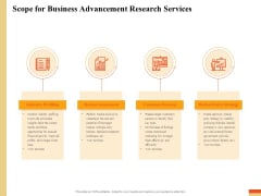Research Advancement Services Scope For Business Advancement Research Services Rules PDF