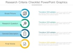 Research Criteria Checklist Powerpoint Graphics
