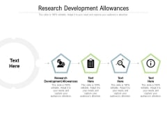 Research Development Allowances Ppt PowerPoint Presentation Show Slides Cpb Pdf