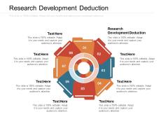 Research Development Deduction Ppt PowerPoint Presentation Professional Visual Aids Cpb Pdf