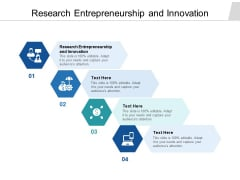 Research Entrepreneurship And Innovation Ppt PowerPoint Presentation Portfolio Slide Portrait Cpb