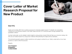 Research For New Product Cover Letter Of Market Research Proposal Ppt Gallery Clipart PDF