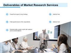 Research For New Product Deliverables Of Market Research Services Ppt Inspiration Slides PDF