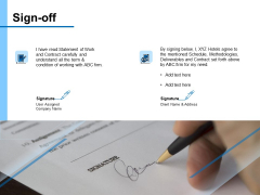Research For New Product Sign Off Ppt Portfolio Show PDF