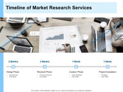 Research For New Product Timeline Of Market Research Services Ppt Show Structure PDF