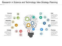 Research In Science And Technology Idea Strategy Planning Ppt PowerPoint Presentation Icon Smartart