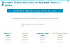 Research Method Overview For Academic Research Proposal Ppt PowerPoint Presentation Ideas Topics
