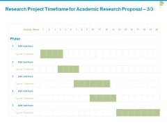 Research Project Timeframe For Academic Research Proposal Timeframe Ppt PowerPoint Presentation Professional Aids
