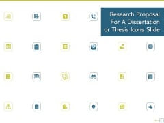 Research Proposal For A Dissertation Or Thesis Icons Slide Template PDF