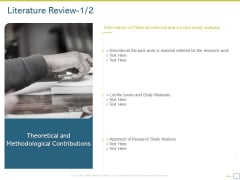 Research Proposal For A Dissertation Or Thesis Literature Review Ideas PDF