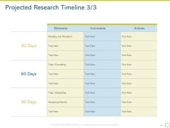 Research Proposal For A Dissertation Or Thesis Projected Research Timeline Template PDF