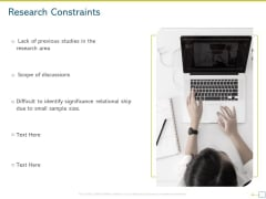 Research Proposal For A Dissertation Or Thesis Research Constraints Brochure PDF