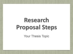 Research Proposal Steps Ppt PowerPoint Presentation Complete Deck With Slides