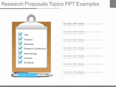 Research Proposals Topics Ppt Examples
