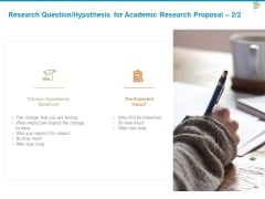 Research Question Hypothesis For Academic Research Proposal Expected Ppt PowerPoint Presentation Infographic Template Images