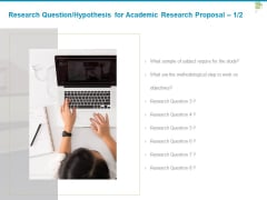 Research Question Hypothesis For Academic Research Proposal Require Ppt PowerPoint Presentation Icon Portfolio