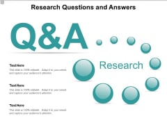 Research Questions And Answers Ppt PowerPoint Presentation Model Icons
