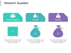 Research Suppliers Ppt PowerPoint Presentation Summary Background Images Cpb