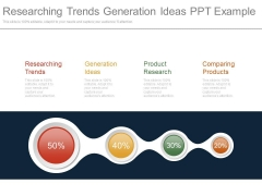 Researching Trends Generation Ideas Ppt Example