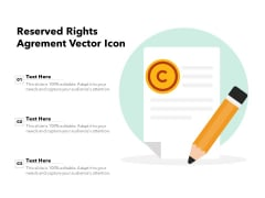 Reserved Rights Agreement Vector Icon Ppt PowerPoint Presentation Inspiration PDF