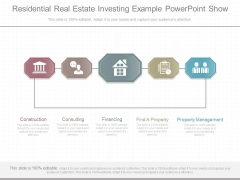 Residential Real Estate Investing Example Powerpoint Show
