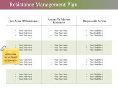 Resistance Management Plan Ppt PowerPoint Presentation Styles Infographic Template
