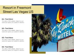 Resort In Freemont Street Las Vegas US Ppt PowerPoint Presentation Gallery Mockup PDF