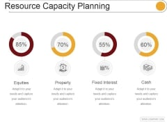 Resource Capacity Planning Template 1 Ppt PowerPoint Presentation Rules