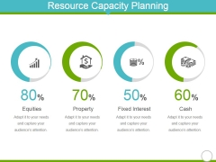 Resource Capacity Planning Template 1 Ppt PowerPoint Presentation Slides Ideas