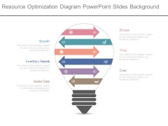 Resource Optimization Diagram Powerpoint Slides Background