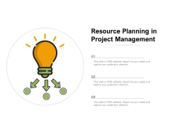 Resource Planning In Project Management Ppt PowerPoint Presentation Styles Topics PDF